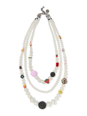 SNACK ATTACK PEARL NECKLACE NECKLACE - Venessa Arizaga