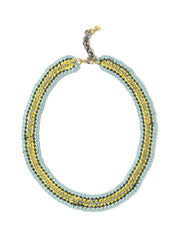 MIRANDA NECKLACE (LEMON AND SKY BLUE) NECKLACE - Venessa Arizaga