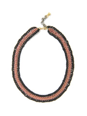MIRANDA NECKLACE (PINK AND BLACK) NECKLACE - Venessa Arizaga