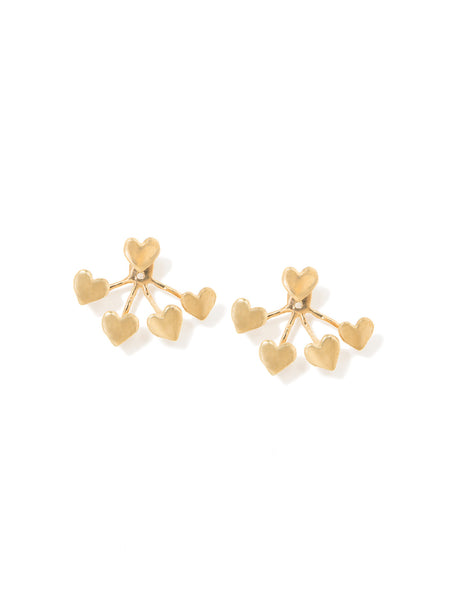 HEART 4-PRONG EARRINGS
