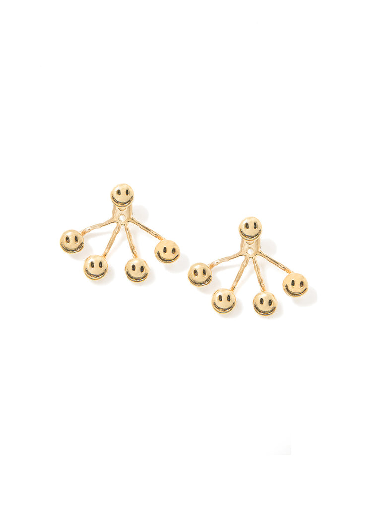 HAVE A NICE DAY 4-PRONG EARRINGS - Venessa Arizaga
