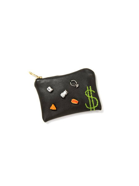 CA$$$H LEATHER POUCH