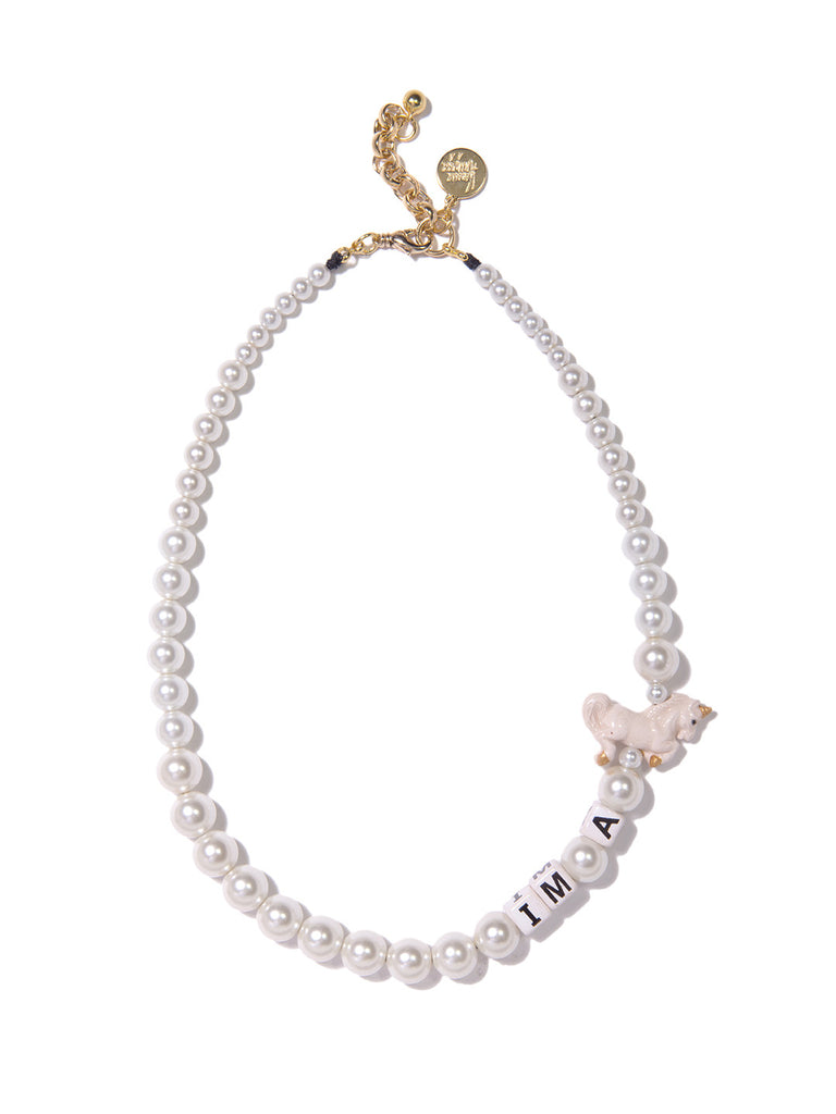 I'M A UNICORN PEARL NECKLACE NECKLACE - Venessa Arizaga