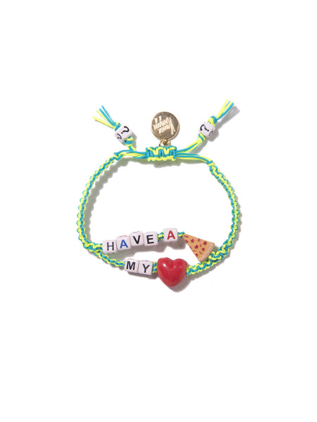 HAVE A PIZZA MY HEART BRACELET