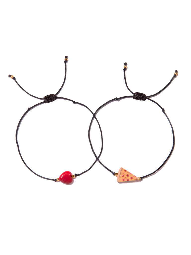 HAVE A PIZZA MY HEART BRACELET SET BRACELET - Venessa Arizaga