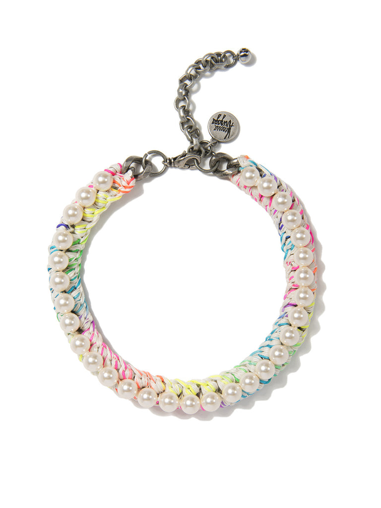 PRETTY PEARL CHOKER (RAINBOW CLOUD) NECKLACE - Venessa Arizaga