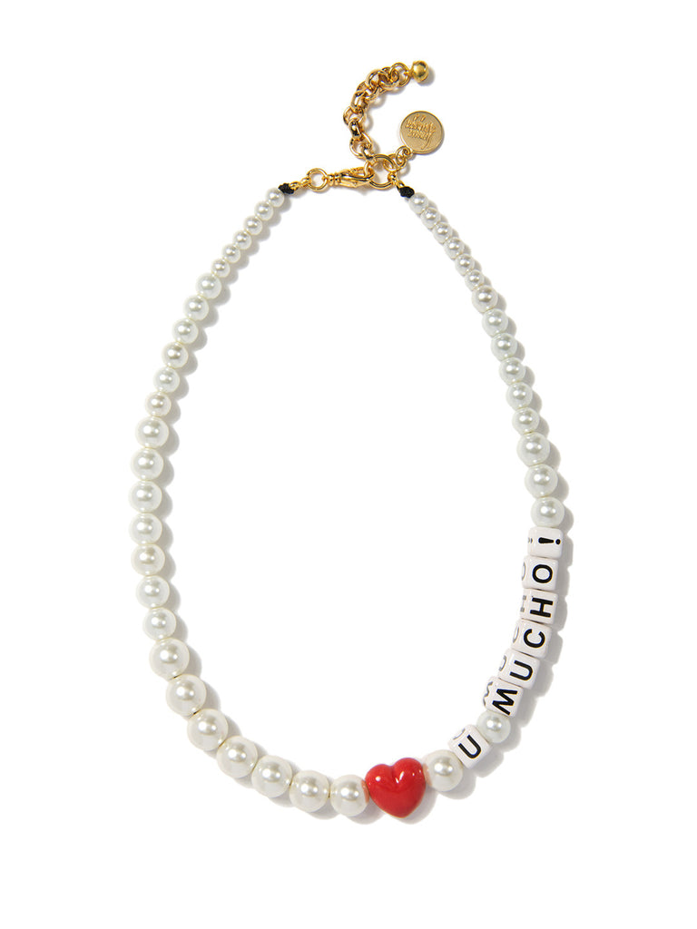 LOVE YOU MUCHO PEARL NECKLACE NECKLACE - Venessa Arizaga