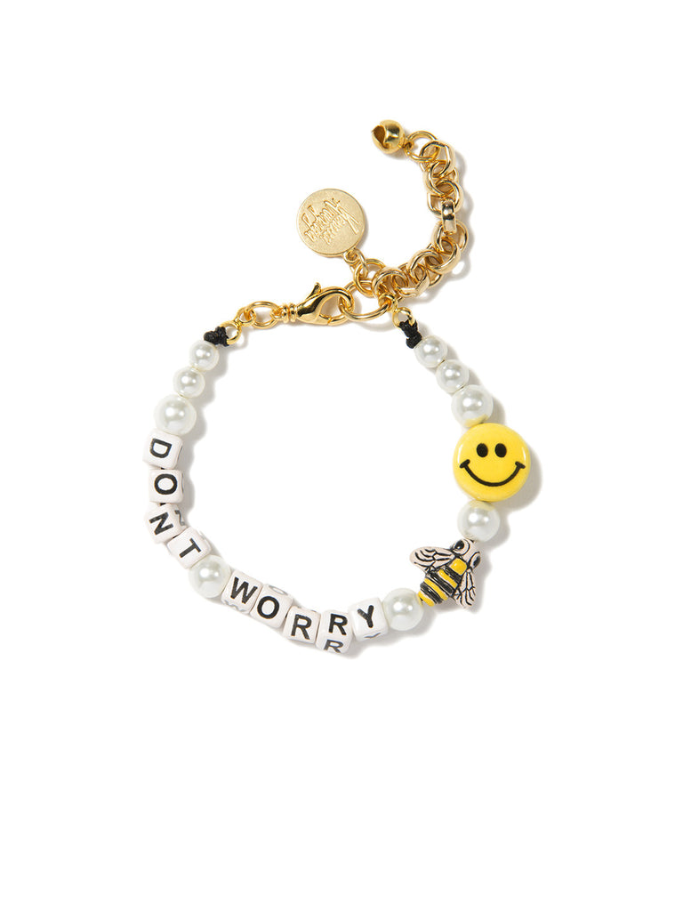DON'T WORRY BEE HAPPY PEARL BRACELET