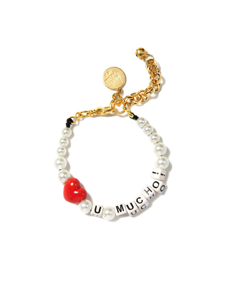 LOVE YOU MUCHO PEARL BRACELET