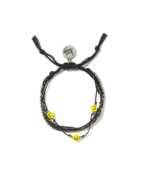ALL SMILES ON ME BRACELET (BLACK)