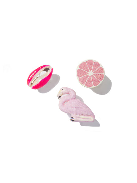 PINK FLAMINGO PIN SET