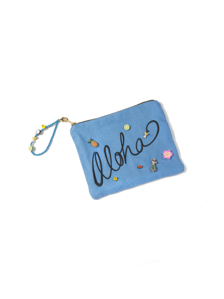 ALOHA CLUTCH BAG - Venessa Arizaga