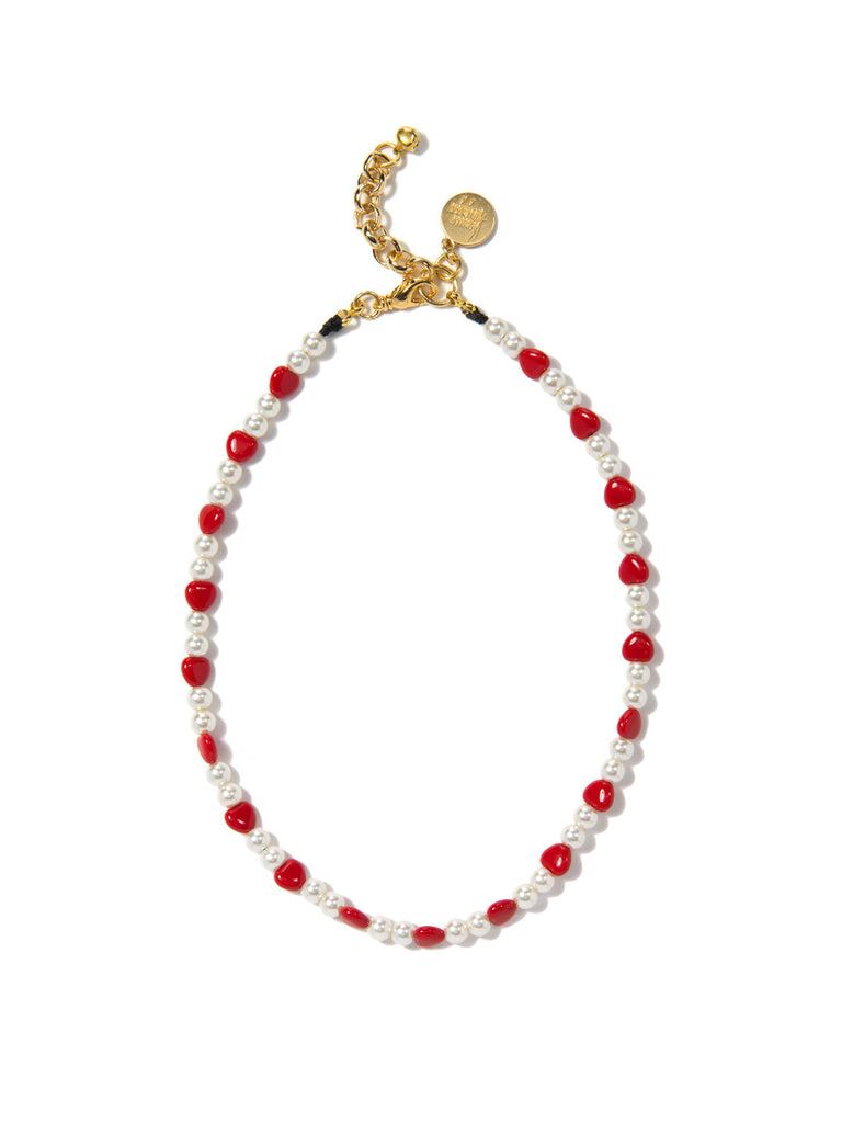 HEART 2 HEART PEARL NECKLACE - Venessa Arizaga