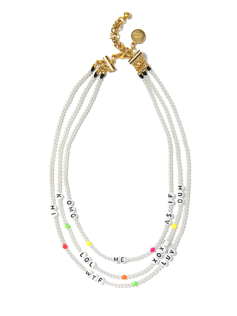 SAY WHAT? NECKLACE (RAINBOW CLOUD) - Venessa Arizaga