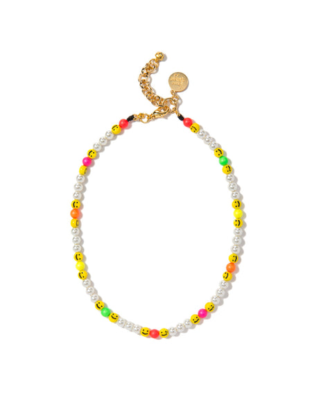 ALL SMILES ON ME PEARL NECKLACE (RAINBOW CLOUD)