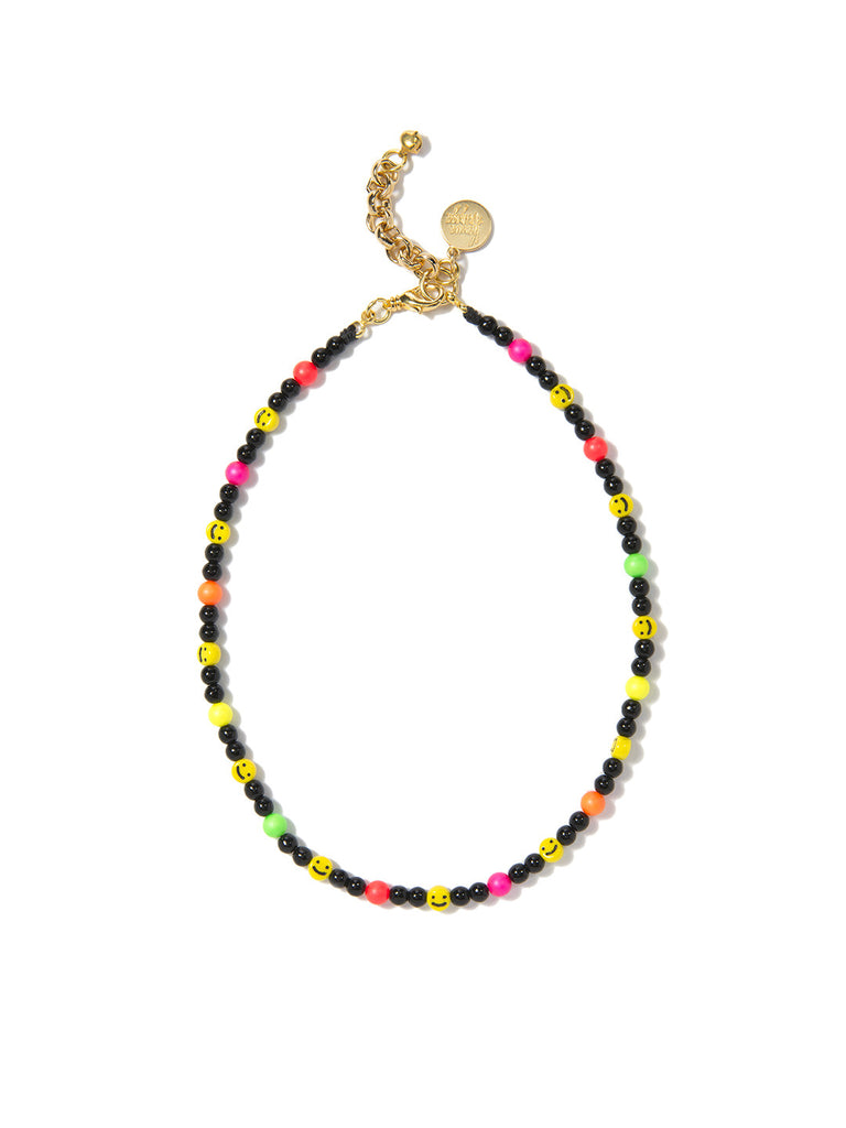 ALL SMILES ON ME PEARL NECKLACE (ELECTRIC RAINBOW) NECKLACE - Venessa Arizaga