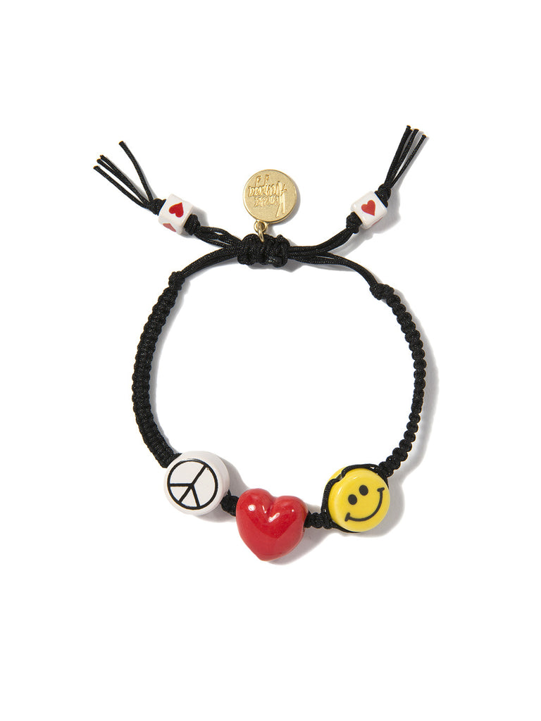 PEACE, LOVE, AND HAPPINESS BRACELET