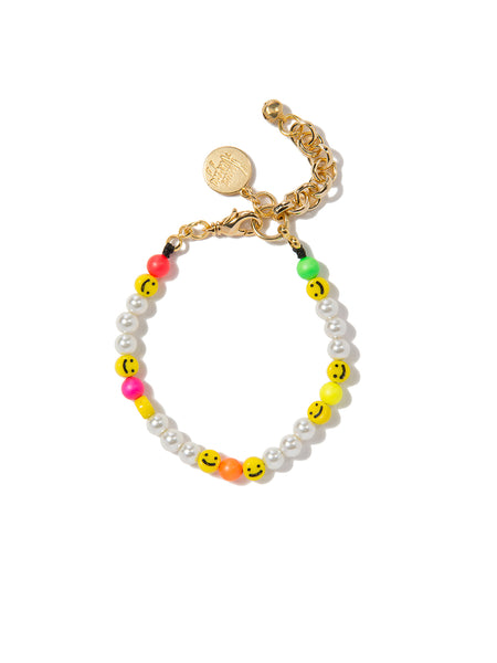 ALL SMILES ON ME PEARL BRACELET (RAINBOW CLOUD)