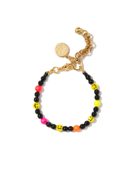 ALL SMILES ON ME PEARL BRACELET (ELECTRIC RAINBOW)