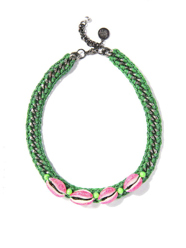 SHELL WE DANCE? CHOKER (GREEN) - Venessa Arizaga