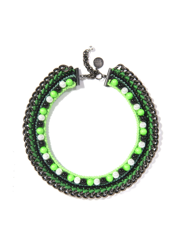 LUCEA NECKLACE (GREEN) NECKLACE - Venessa Arizaga