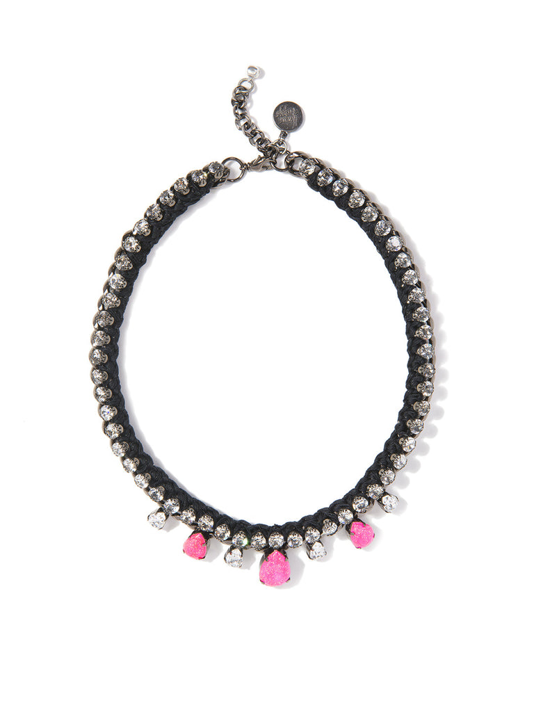 ALESHA NECKLACE (PINK AND BLACK) - Venessa Arizaga