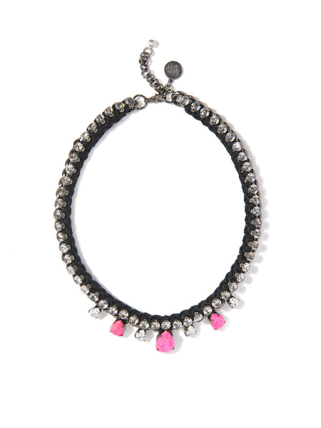 ALESHA NECKLACE (PINK AND BLACK)