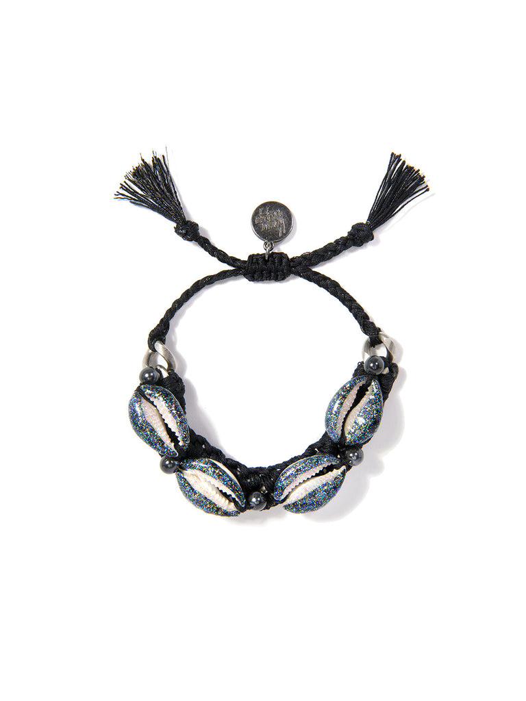 SHELL WE DANCE? BRACELET (BLACK) - Venessa Arizaga