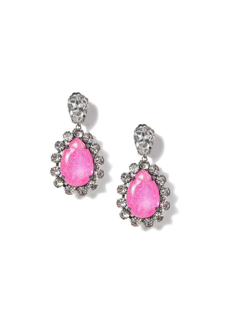 NATURAL MYSTIC EARRINGS (PINK) - Venessa Arizaga