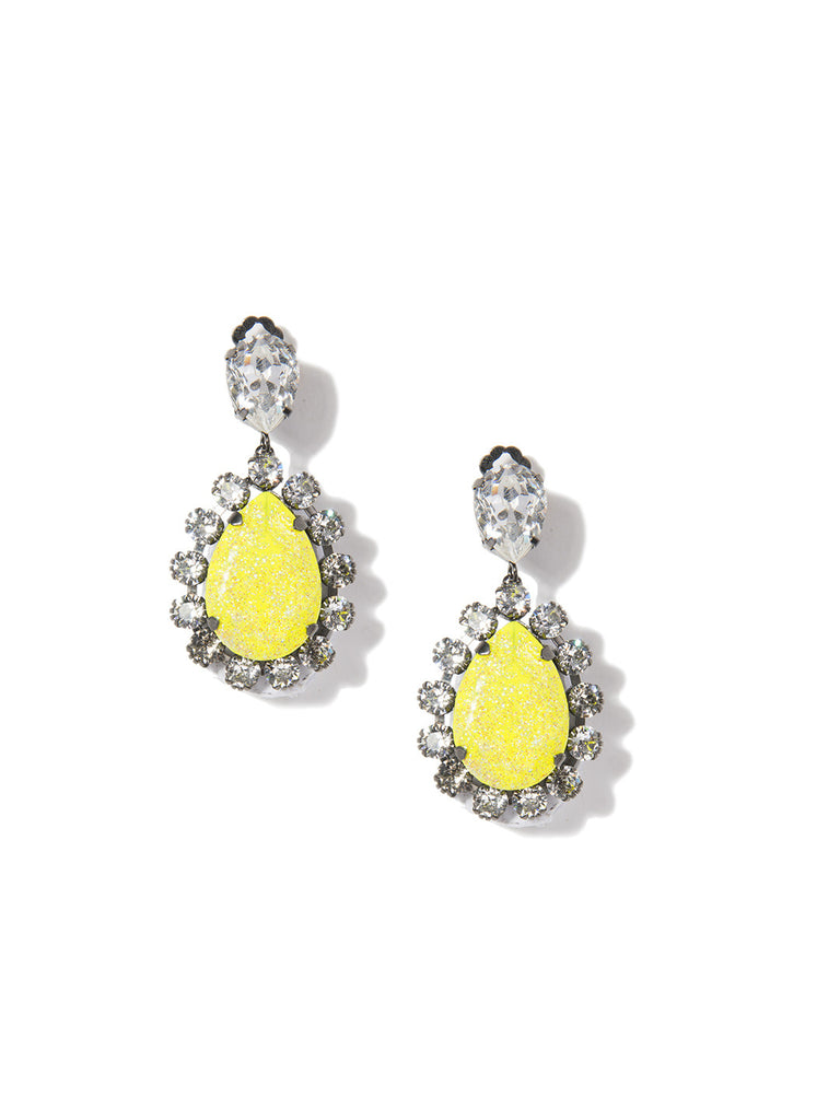 NATURAL MYSTIC EARRINGS (YELLOW) - Venessa Arizaga