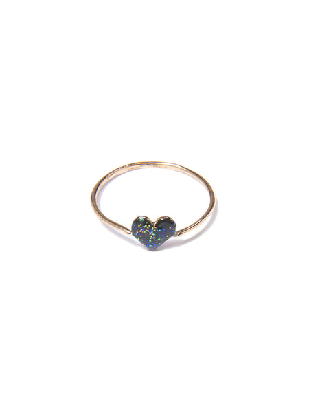 HEART RING (BLACK)