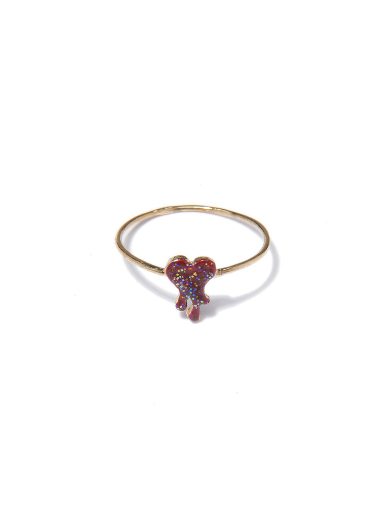 ACID HEART RING (RED) - Venessa Arizaga