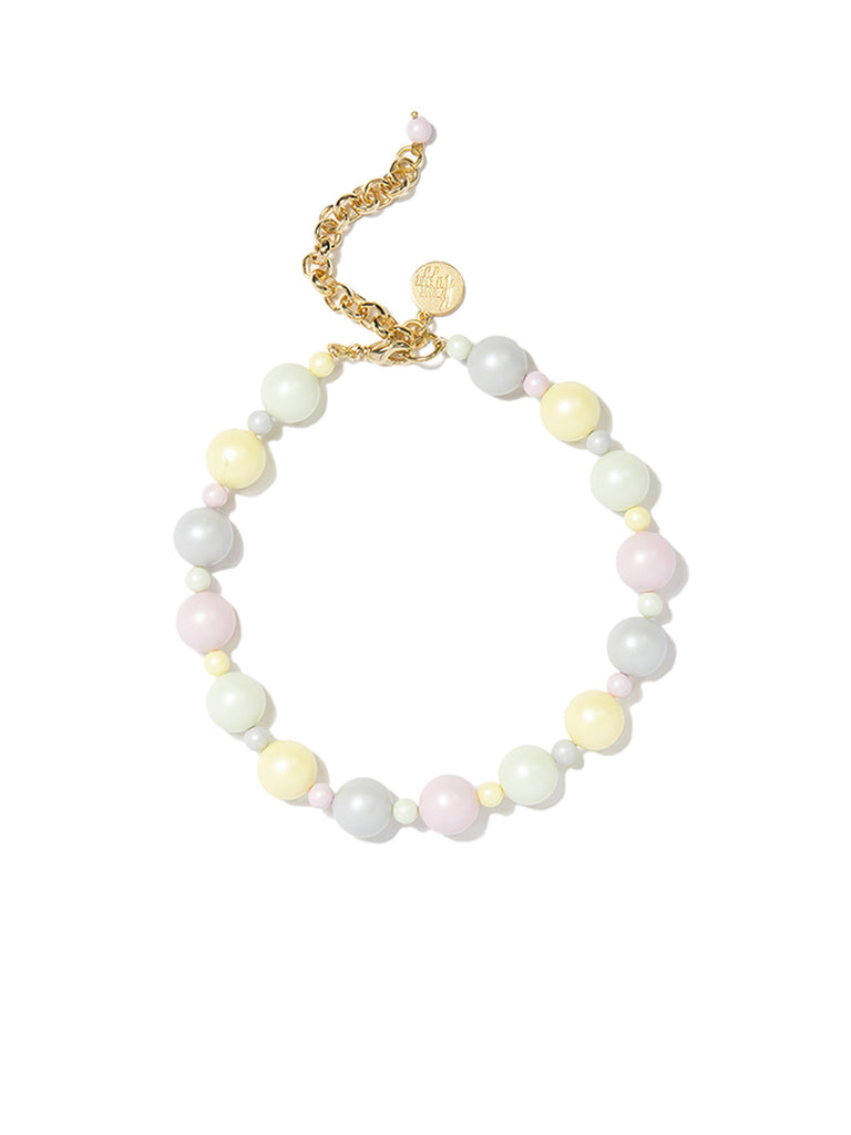 SUGAR KISSES PEARL CHOKER (PASTEL RAINBOW) NECKLACE - Venessa Arizaga
