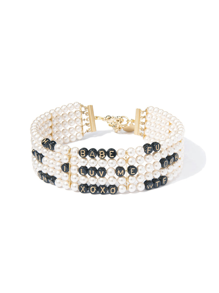 WATCHA SAY PEARL CHOKER NECKLACE - Venessa Arizaga