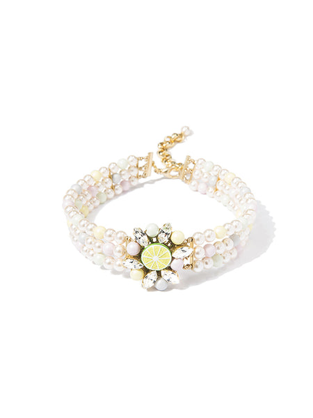 LIME IN LOVE PEARL CHOKER