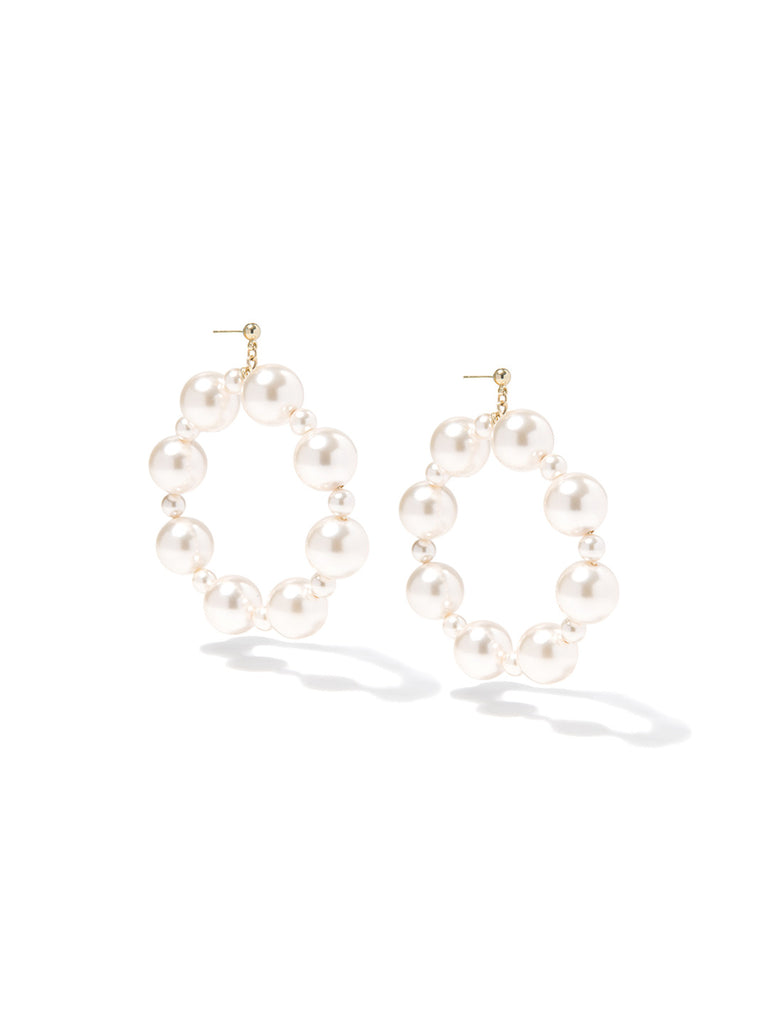 SUGAR KISSES PEARL EARRINGS (CREAMROSE) EARRING - Venessa Arizaga