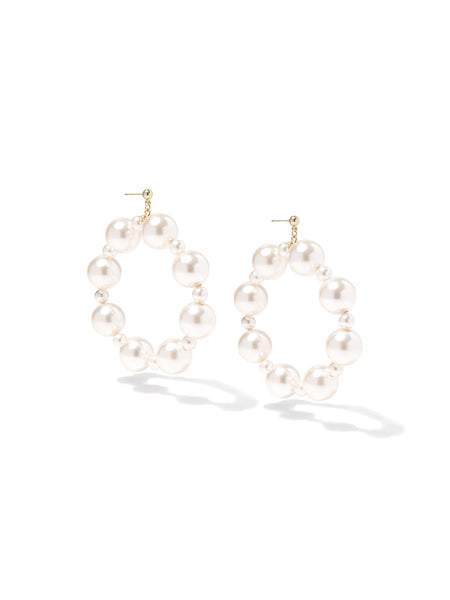 SUGAR KISSES PEARL EARRINGS (CREAMROSE)