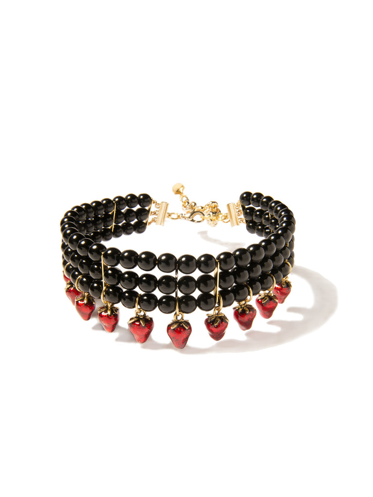 STRAWBERRY KISSES PEARL CHOKER