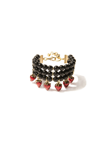 STRAWBERRY KISSES PEARL BRACELET