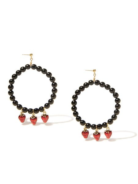 STRAWBERRY KISSES PEARL EARRINGS