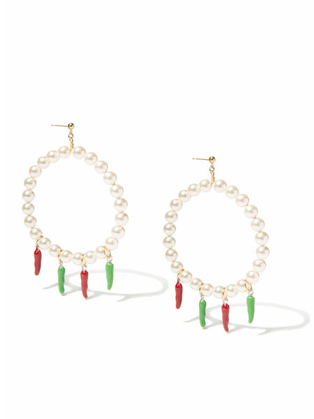 JALAPEÑO BUSINESS PEARL EARRINGS