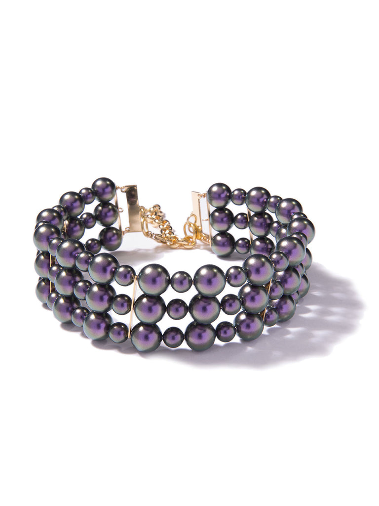 BERRY SWEET PEARL CHOKER (PURPLE)