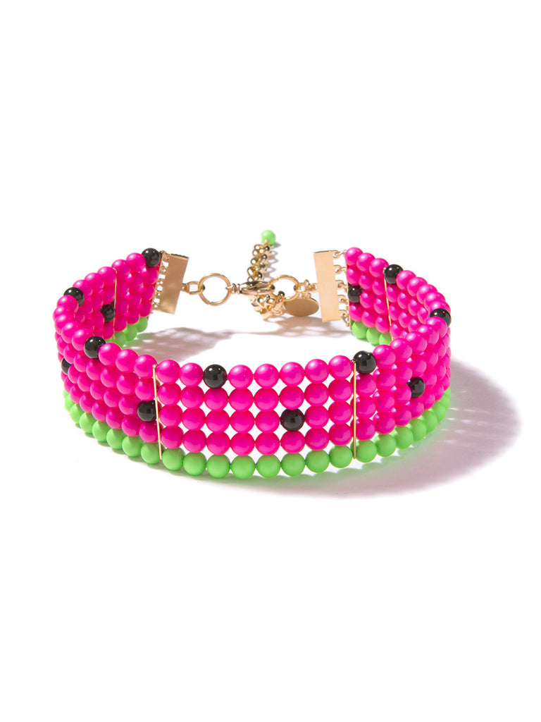 ONE IN A MELON PEARL CHOKER (PINK)