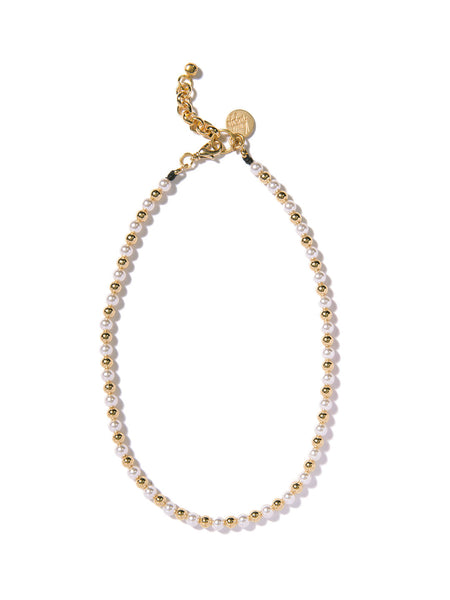 SUGAR COATED PEARL NECKLACE (GOLD)