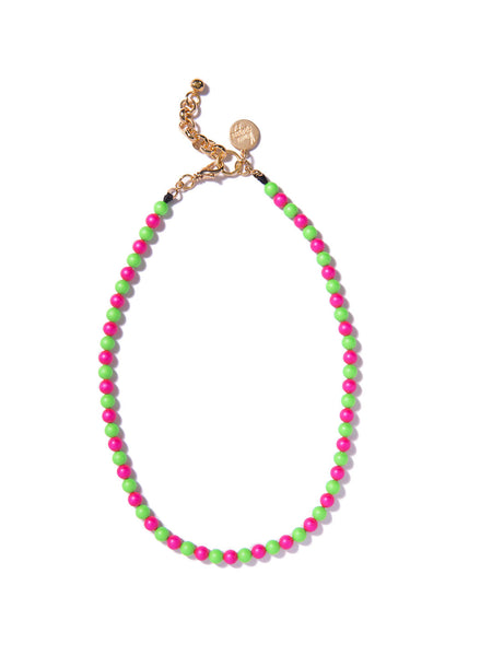 SUGAR COATED PEARL NECKLACE (PINK AND GREEN)
