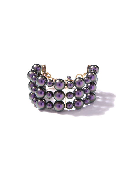 BERRY SWEET PEARL BRACELET (PURPLE)