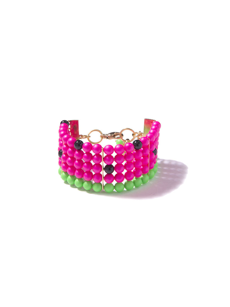 ONE IN A MELON PEARL BRACELET (PINK)