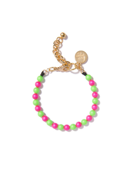 SUGAR COATED PEARL BRACELET (PINK AND GREEN)