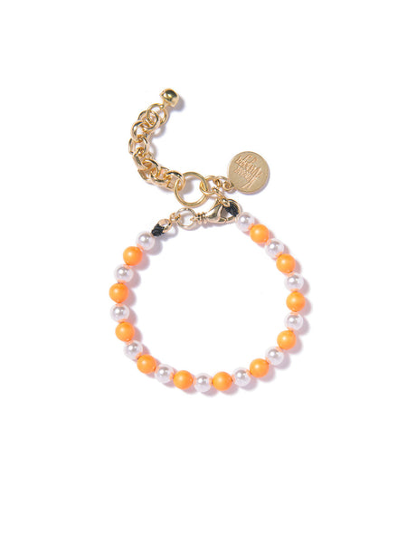 SUGAR COATED PEARL BRACELET (ORANGE)