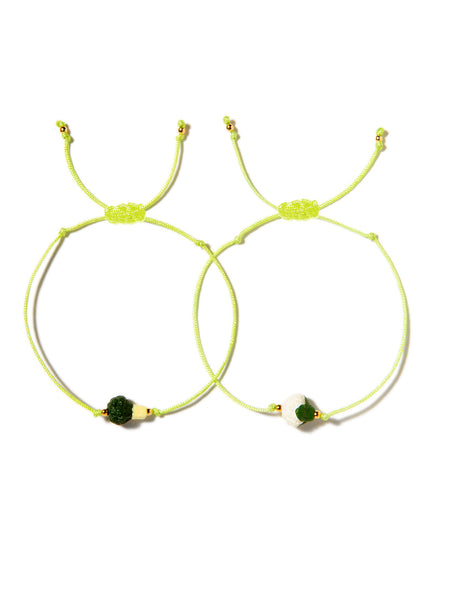 BROCCOLI AND CAULIFLOWER BRACELET SET